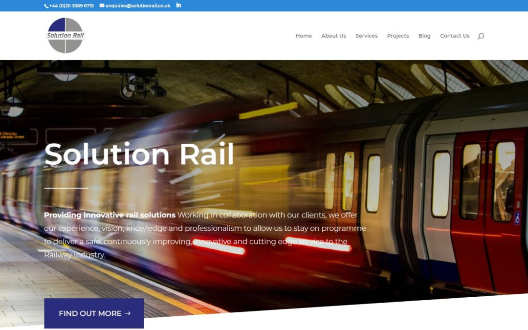Solution Rail Launch New Website