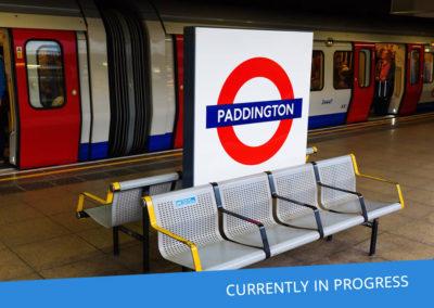 Paddington Bakerloo Line Ticket hall to platforms 3 & 4 Intrusive Tag & Trace Survey for Paddington Cube development